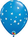 "CONTEMPO STARS DARK BLUE WITH WHITE STARS (11"") QTY 50"