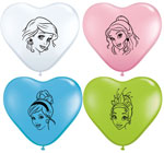 Disney Princess Face Assortment  (6INCH) QTY 100
