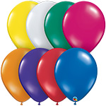 JEWEL ASSORTED Jewel Tone - 11 INCH SOLID ROUNDS QTY 100