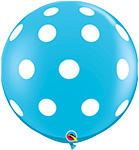 BIG POLKA DOTS ROBIN'S EGG BLUE WITH WHITE DOTS (36IN) QTY 2
