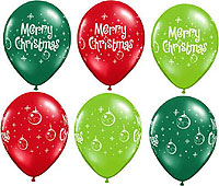 MERRY CHRISTMAS ORNAMENTS (11 IN) QTY 50