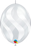 DIAMOND CLEAR WAVY STRIPES WHITE (12IN) QTY 50