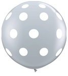 BIG POLKA DOTS DIAMOND CLEAR WITH WHITE DOTS (36in) QTY 2
