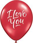 I LOVE YOU SCRIPT MODERN RED 11in INCH