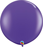 PURPLE VIOLET Jewel Tone -  3 FOOT SOLID ROUNDS QTY 2