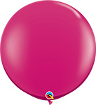 MAGENTA Jewel Tone - 3 FOOT SOLID ROUNDS QTY 2
