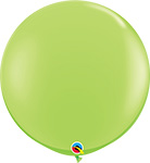 LIME GREEN Fashion Tone -  3 FOOT SOLID ROUNDS QTY 2