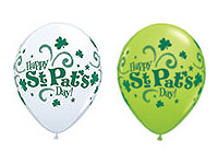 ST. PAT'S GET YOUR GREEN ON ASSORTMENT WHITE AND LIME GREEN