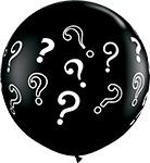 ONYX BLACK QUESTION MARKS (36IN) QTY 2
