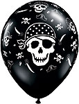 PIRATE SKULL & CROSS BONES (11 INCH)  QTY 50