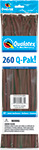 260Q-PAK CHOCOLATE BROWN FASHION (2IN X 60IN) QTY 50