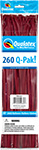 260Q-PAK MAROON FASHION (2IN X 60IN ) QTY 50