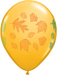 AUTUMN LEAVES GOLDENROD, MANDARIN ORANGE, SPARKLING BURGUNDY  (11 INCH)  QTY 50