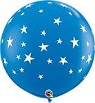 "CONTEMPO STARS DARK BLUE WITH WHITE STARS (36"") QTY 2"