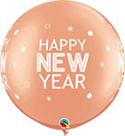 """NEW YEAR SPARKLES & DOTS ROSE GOLD (30"""") QTY 2"""