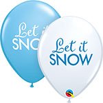 "SIMPLY LET IT SNOW (11"") QTY 50"