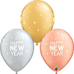 """NEW YEAR SPARKLES & DOTS ASSORTMENT (11"""") QTY 50"""