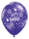 HAPPY NEW YEAR SWIRLING STARS (11 INCH)  QTY 100