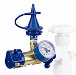 Conwin Classic Inflator with Gauge, Soft Touch Push Valve