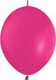 FUCHSIA CRYSTAL - LINK-O-LOONS (12 INCH)  QTY 50