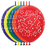 LINK-O-LOON PRINTED STREAMERS 12in QTY 50