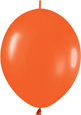ORANGE FASHION - LINK-O-LOONS (6 INCH)  QTY 50