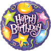 BDAY STARS & BALLOONS (18in.)  QTY 5