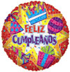 FELIZ CUMPLEANOS BURST  (18in.) QTY 5