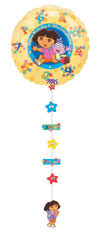 DORA BDAY DROPALINE (54IN)  QTY 1