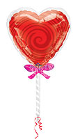 Heart Sucker With Wrapper (40in.)  QTY 5