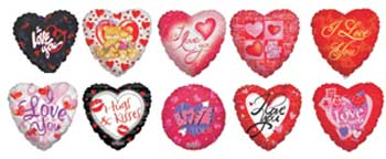 LOVE MINI ASSORTMENT INFLATED WITH AIR (MINI)  QTY 25