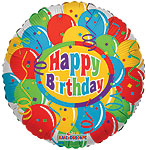 BALLOONS & CONFETTI HBDAY (18in)  QTY 10