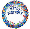 HAPPY BIRTHDAY STREAMERS PERSONALIZED  (18in) QTY 5