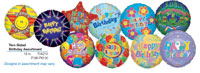 2SIDED BIRTHDAY ASST (18in)  QTY 100
