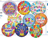 PREINFLATED BIRTHDAY ASST W/STICKS (9in)  QTY 25