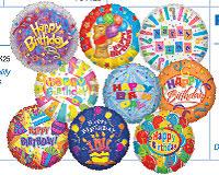 MINI FOIL BIRTHDAY ASST FLAT (9in)  QTY 25