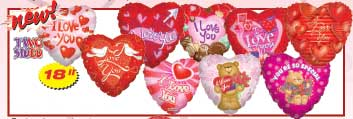 2SIDED LOVE ASST (18in)  QTY 100