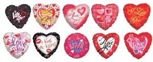 MINI FOIL LOVE ASST FLAT (9in)  QTY 25
