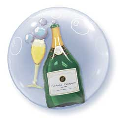 DBL BUBBLES CHAMPAGNE (24in)  QTY 1