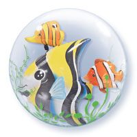 DBL BUBBLES SEAWEED FISH (24in)  QTY 1