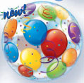 SINGLE BUBBLE BALLOONS (22in)  QTY 5