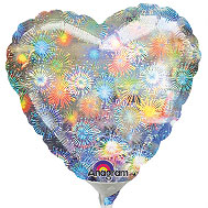 HOLO FIREWORKS HEART (AIR ONLY) 4in QTY 25