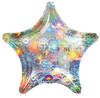 HOLO FIREWORKS STAR (AIR ONLY) 4in QTY 25