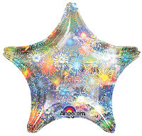 "19"" HOLOGRAPHIC FIREWORKS STAR 19in QTY 5"