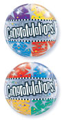 SINGLE BUBBLE CONGRATULATION ! (22in)  QTY 5