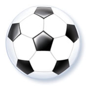 SINGLE BUBBLE SOCCERBALL -  (22in)  QTY 5
