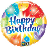 B-DAY BALLOONS ABLAZE (18in)  QTY 5