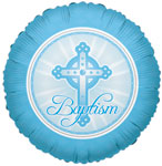 BAPTISM LIGHT BLUE (18in)  QTY 10