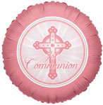 1ST COMMUNION LIGHT PINK (18in)  QTY 10