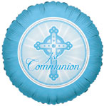 1ST COMMUNION LIGHT BLUE (18in)  QTY 10